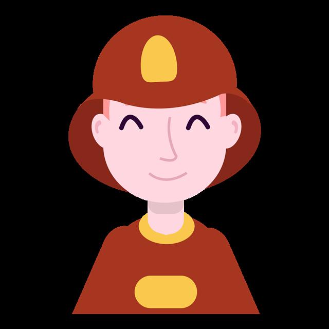 消防员卡通头像