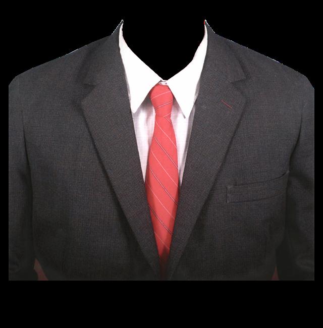 红领带西装证件照图片