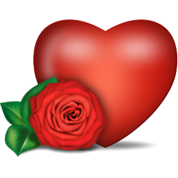 红色爱心玫瑰花装饰图片