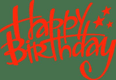 生日艺术字设计