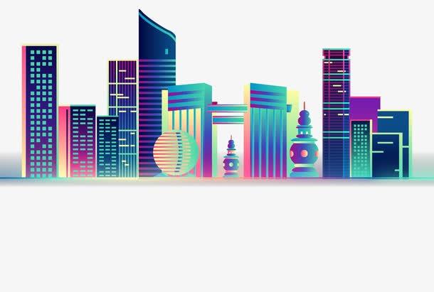 城市建筑剪影图片