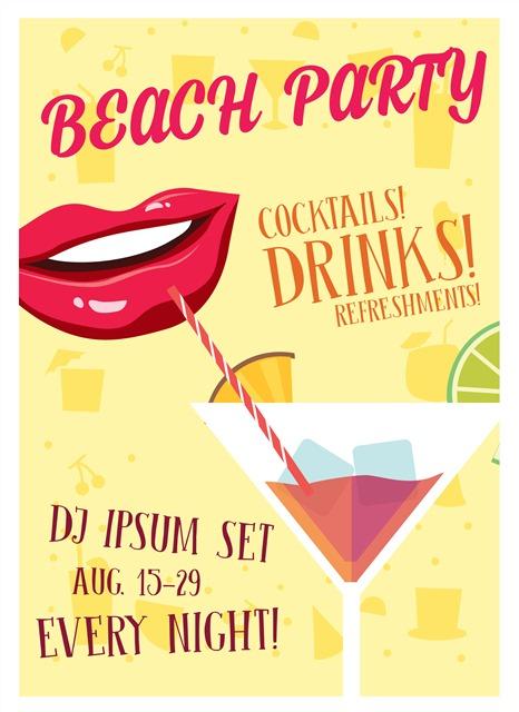 沙滩派对宣传海报