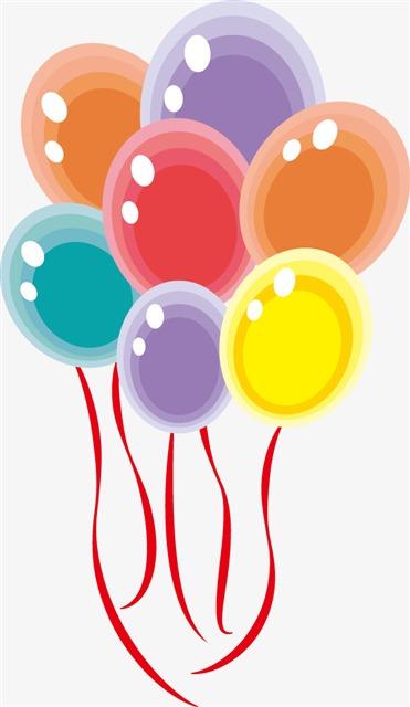 一束卡通气球
