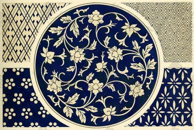 民族风花卉背景图案