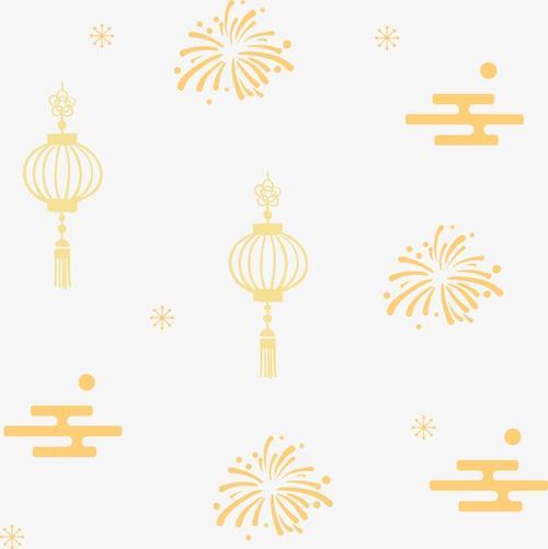 春节元宵节元素图标