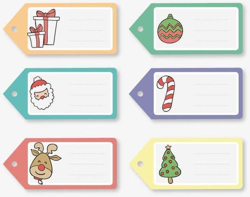 卡通圣诞主题标签