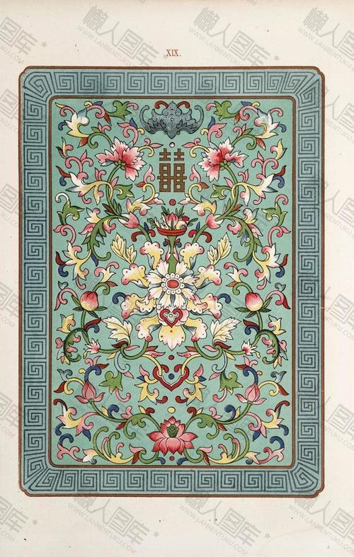 中式花卉图案背景
