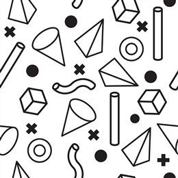 几何图形白色背景