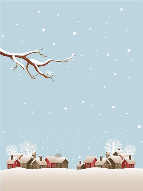 卡通冬天下雪背景