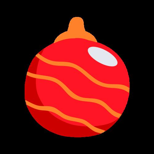 红色漂亮圣诞彩球