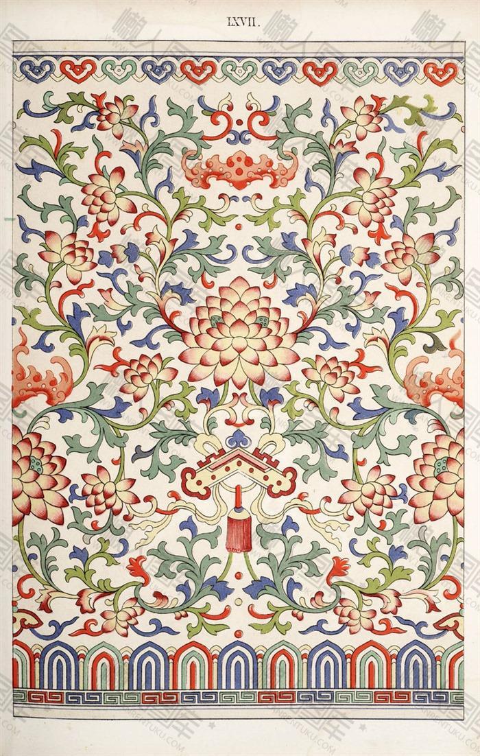 中国风民族花纹图片