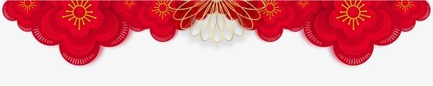 红色花纹节日装饰图片