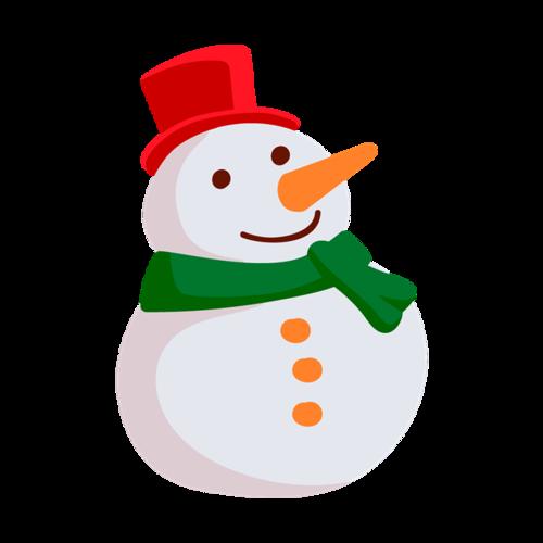 冬日卡通可爱圣诞雪人