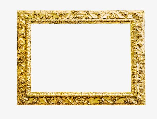 金色花纹相框边框图片