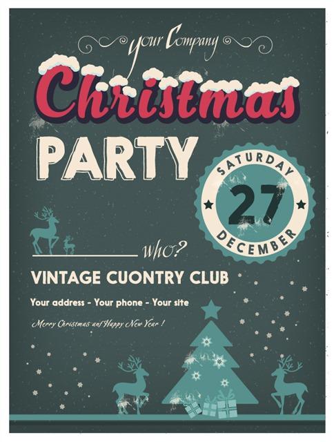 圣诞节英文海报