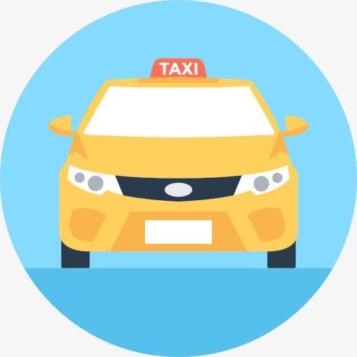 出租车卡通图标