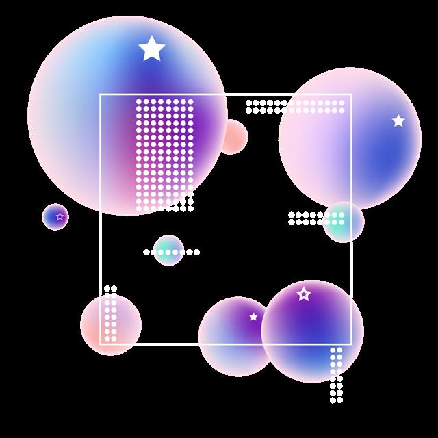 漂浮元素不规则彩球