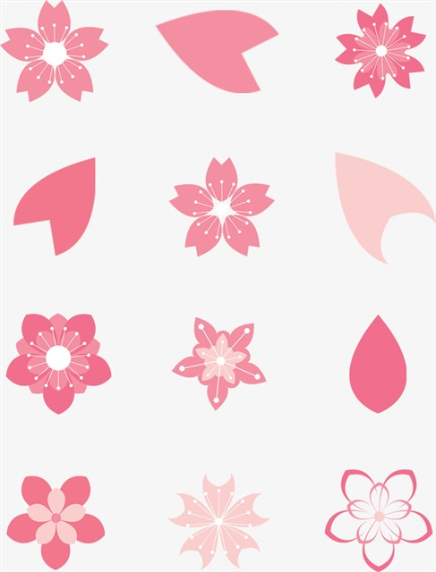 免抠樱花花朵图案