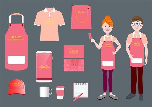 奶茶店vi设计一系列图