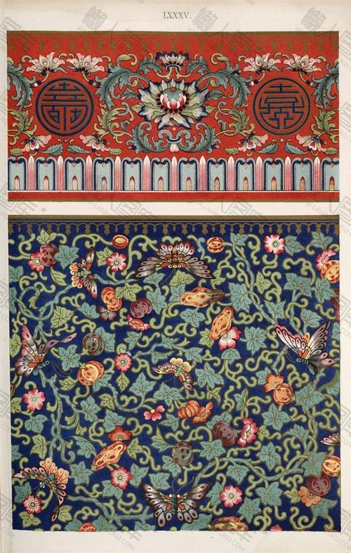 古典花卉背景图