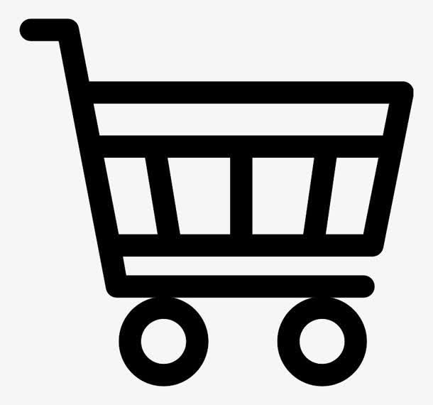 黑色免扣购物车图标