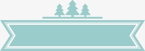 绿色圣诞主题标签贴纸