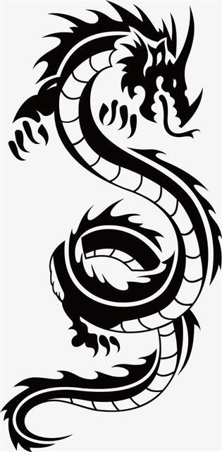 霸气龙纹身图案