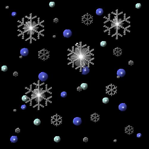 雪花漂浮元素
