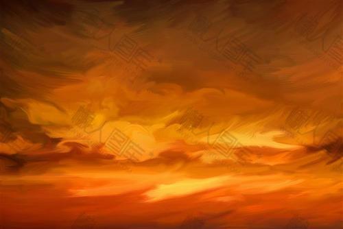 天空油画背景图