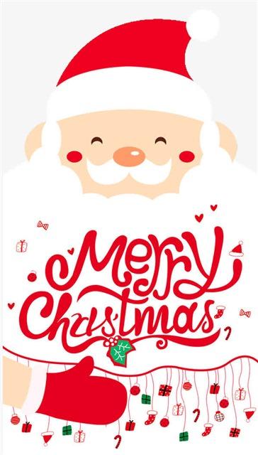 红色简约卡通圣诞节背景