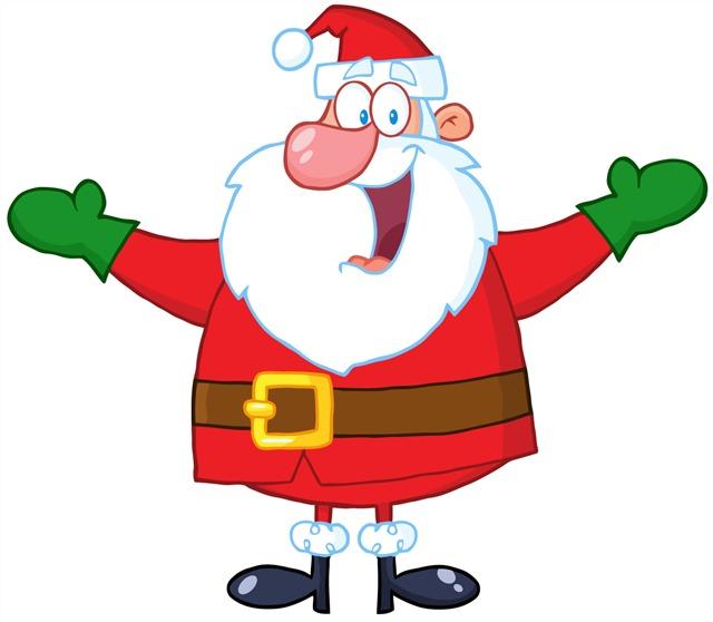 卡通搞怪圣诞老人