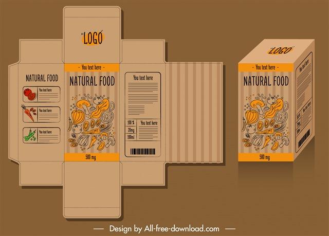 零食包装盒展开图