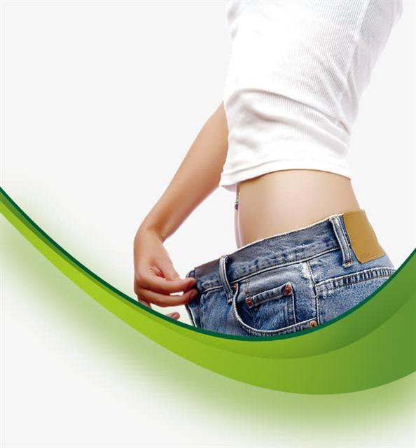 减肥瘦身机构美女插图素材