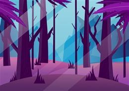 清晨树林背景图