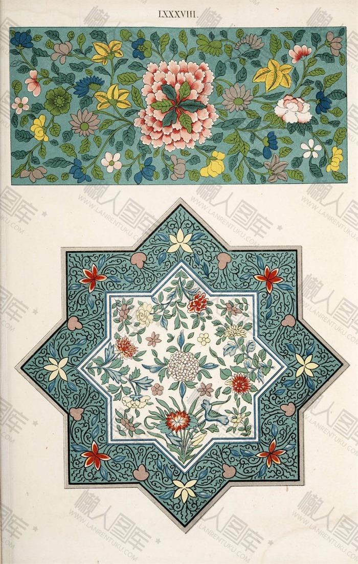 中国风花卉背景图
