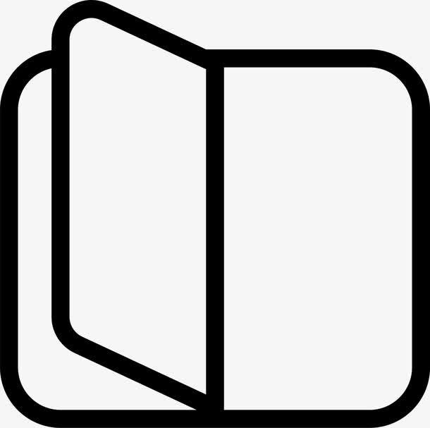 黑色矢量阅读图标