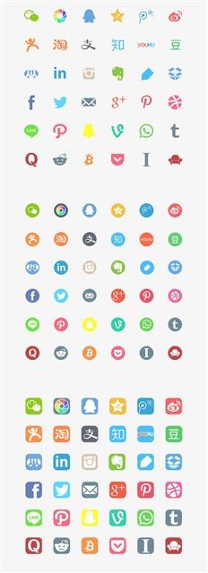 知名社交软件icon图标