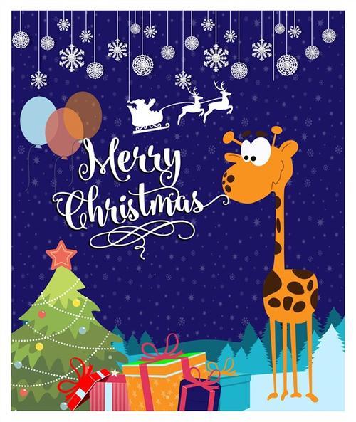 手绘圣诞节插画海报