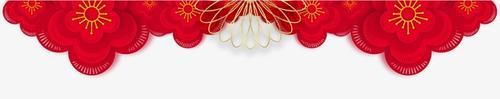 红色花朵新春边框