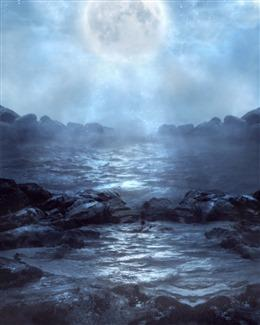 夜晚海景图片