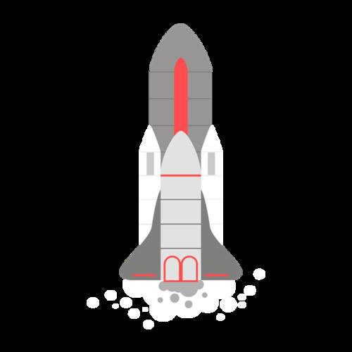 卡通简笔画火箭
