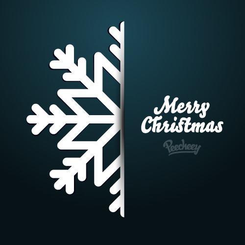 圣诞节快乐英文卡片