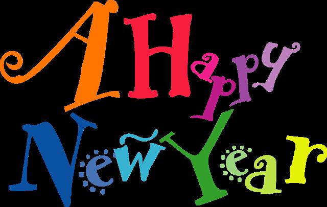 彩色手绘新年快乐字体设计