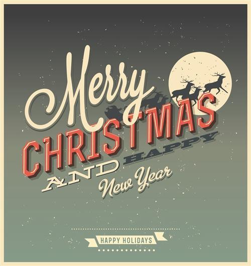 复古圣诞节矢量图