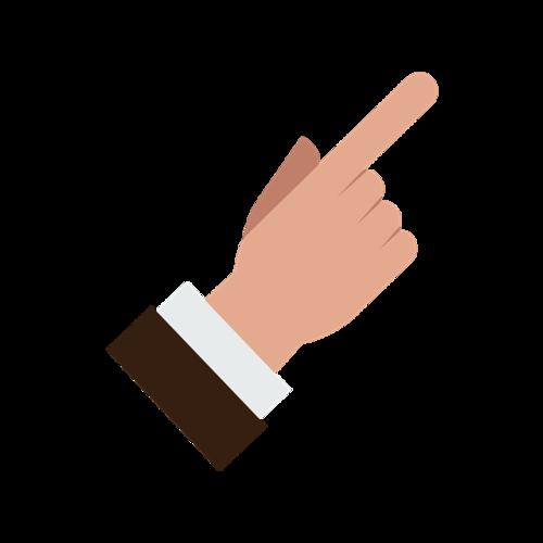 卡通手指手势矢量元素