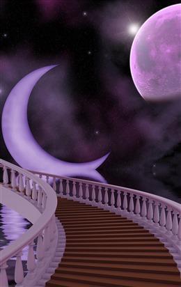 殿堂楼梯背景
