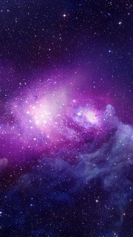 梦幻冰紫色星空少女图片