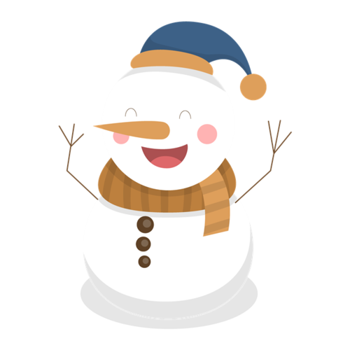 圣诞节雪人装扮元素