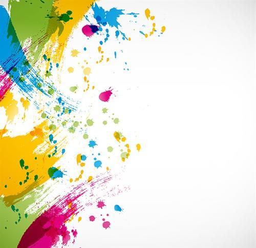 颜料喷洒效果