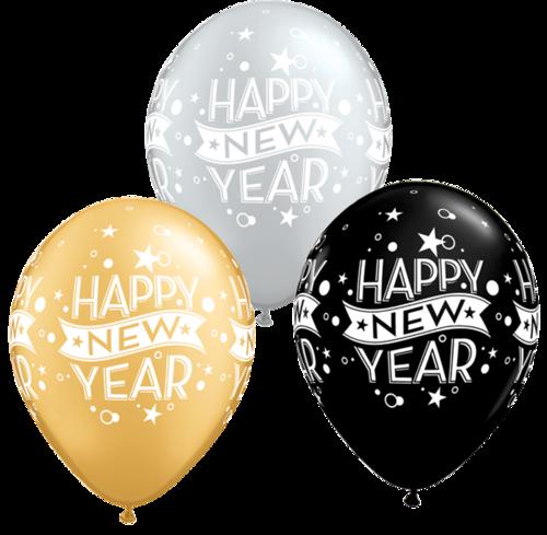 元旦新年快乐气球装饰图片